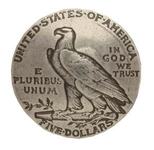 1911年の5ドル コインコンチョのレプリカですE Pluribus Unumはラテン語で 多数から一つへ の意裏面にシカゴスクリュー付き コインコンチョ イーグル 5ドル T レプリカ 通常ネジ レザークラフト資材 パーツ 売り込み 革製品 材料 長財布 引出物 レザークラフト Unum ロングウォレット ハンドメイド E 資材