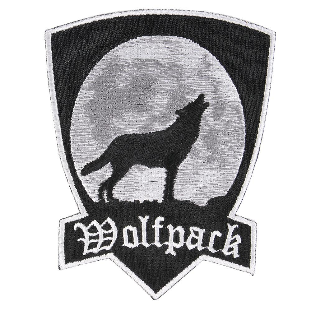 狼が遠吠えしている姿がデザインされたアイロンシート付パッチ 激安 激安特価 送料無料 ミリタリーパッチ ウルフ アイロンシート付 ブラック ミリタリーワッペン アップリケ スリーブバッジ Howling Wolfpack ウルフパック 狼 激安格安割引情報満載 遠吠え