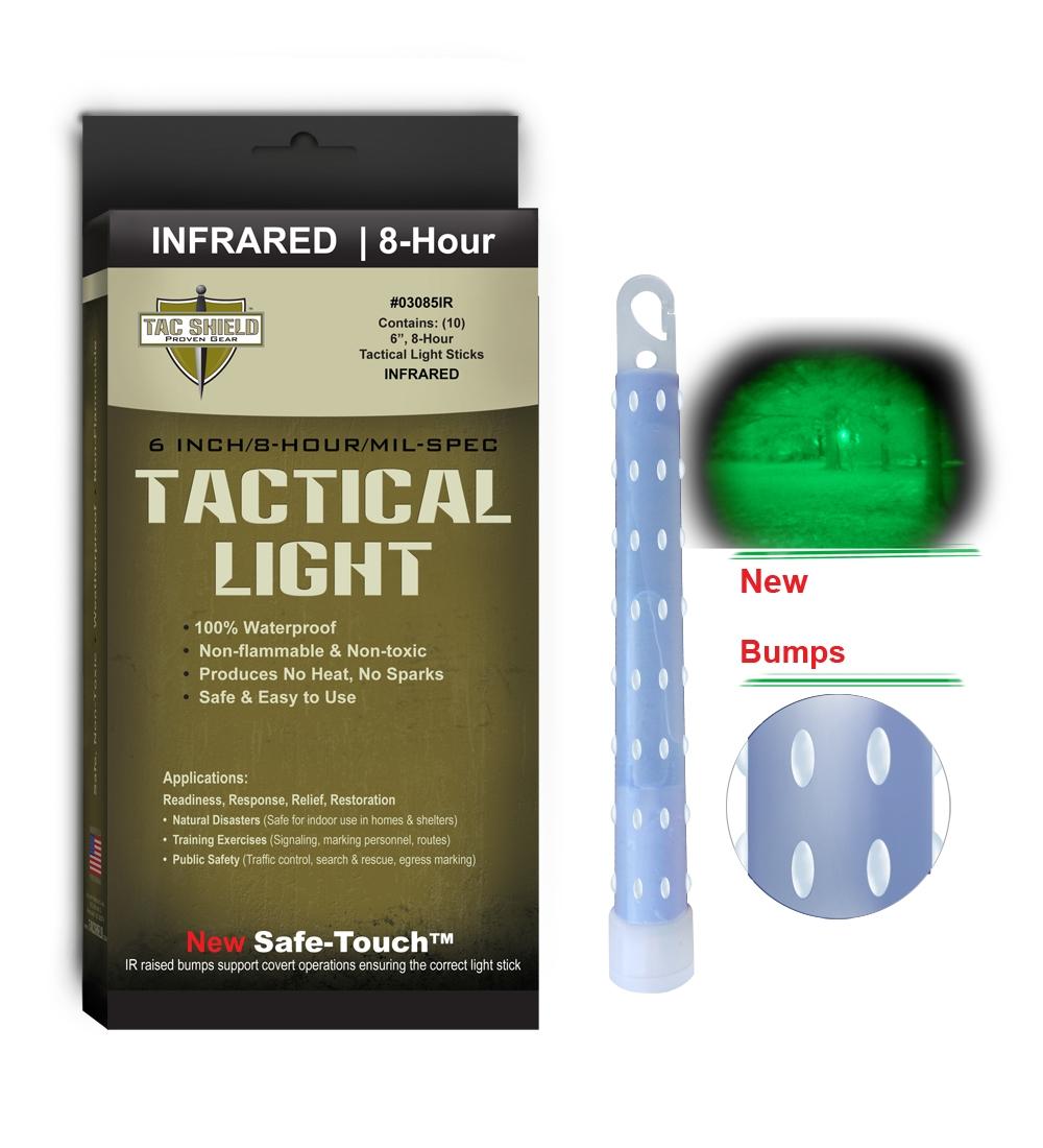 何も見えない暗闇で仲間を識別する赤外線ライトスティック TAC SHIELD サイリウム INFRARED ライトスティック 6インチ 10本入り タックシールド ケミカルライト サイリューム 赤外線 cyalume ペンライト IR tac shield 不燃性 シアリウム ルミカライト 非毒性 豪華な 全国どこでも送料無料 スティックライト ウォータープルーフ