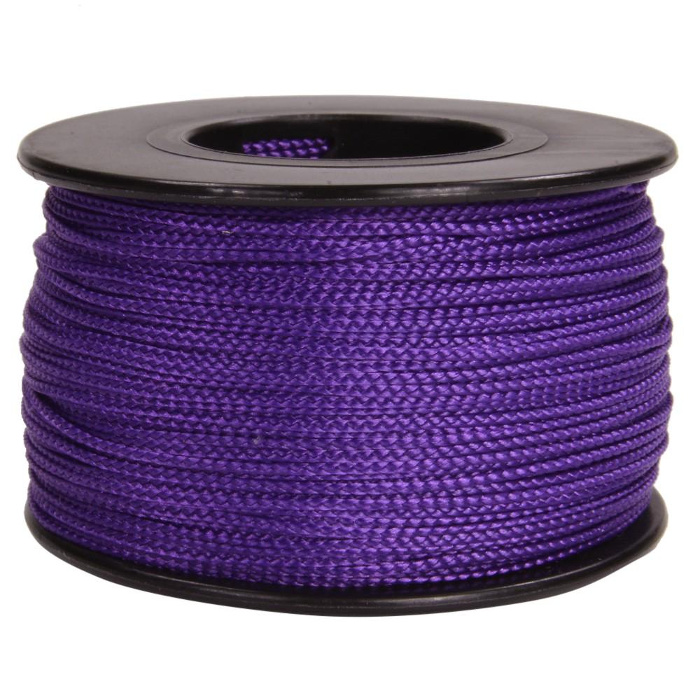 赤と青が混ざった上品な紫色のナノコード ATWOOD セール価格 ROPE ナノコード 0.75mm パープル アトウッドロープ ARM Nano cord 紫 災害 いと Purple 糸 ナイロン 紐 贈与 ポリエステル ひも 緊急 ナイロンコード 極細