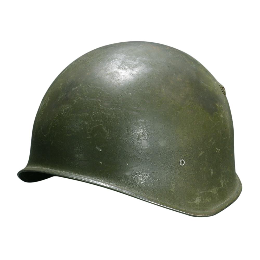 スイス軍放出品 ヘルメット M71 スチール製 [ Bランク ] 軍払い下げ品 鉄製 レザー 革 フェルト 1971年 梨地