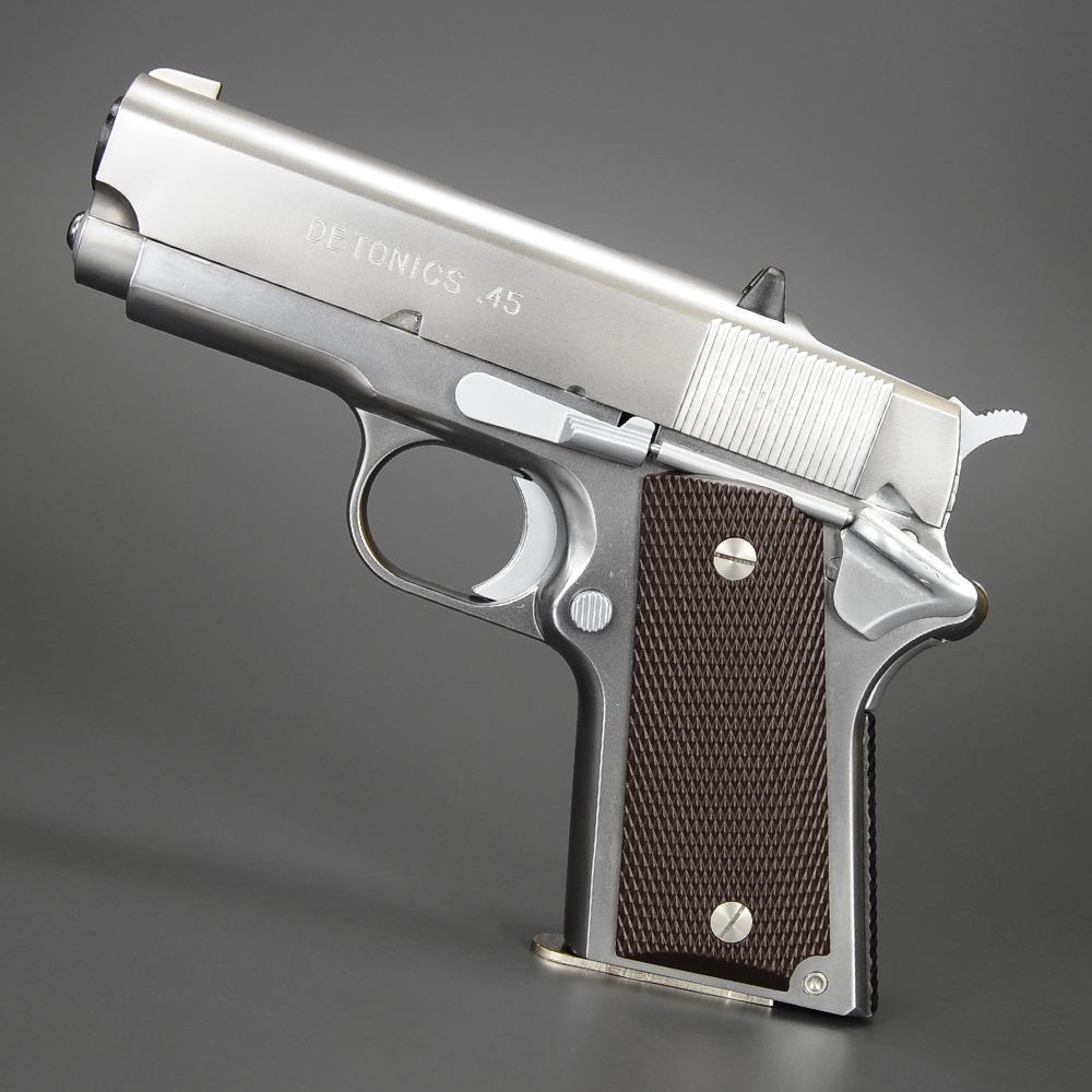 CAW モデルガン デトニクス .45 HW [ ステンレスシルバー ] CAW-MA0001 クラフトアップル Craft Apple Works 45オート 発火モデル ヘビーウェイト 模造銃 オートピストル 自動拳銃 ガス銃 自動式拳銃 オートマチックピストル 遊戯銃