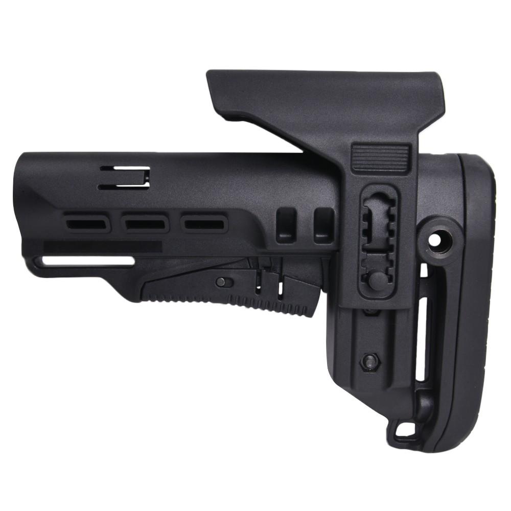 DLG Tactical バットストック TBSタクティカル チークピース付 M4対応 ミルスペック [ ブラック ] TACTICAL Mil-Spec MIL規格 銃床 リトラクタブル アジャスタブル チークレスト チークパッド ガンパーツ トイガン カスタマイズ カスタムパーツ