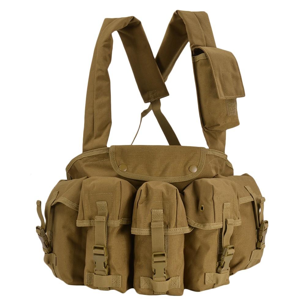 CONDOR チェストリグ M16マガジン6本 CR [ コヨーテブラウン ] OUTDOOR コンドルアウトドア 弾薬帯 M16マガジンポーチ M16マグポーチ サスペンダー