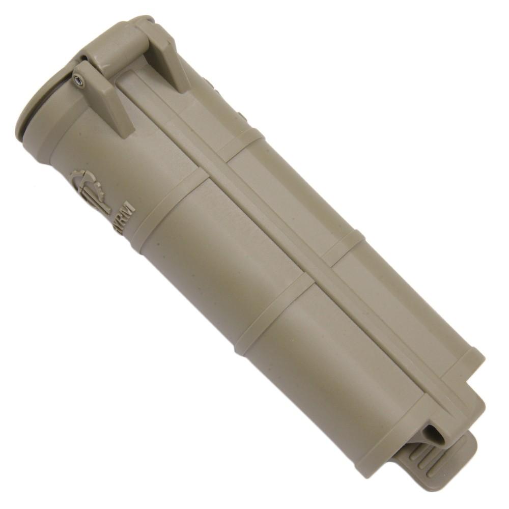CR123電池を6本収納できるサイリムの大型版乾電池ケース THYRM バッテリーケース CellVault XL 単3電池4本収納 [ フラットダークアース ] サイリム 小物入れ 保存ケース 保存容器 電池ケース マッチケース サバイバルケース 薬ケース 入れ物 防水ケース プラスチックケース 防水ボックス 電池収納ボックス 電池ボックス