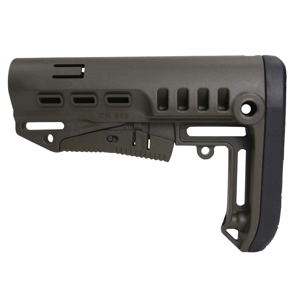 DLG Tactical バットストック TBSコンパクト AR15対応 コマーシャル [ グリーン ] TACTICAL 商用グレード 銃床 リトラクタブル アジャスタブル ガンパーツ トイガン カスタマイズ カスタムパーツ