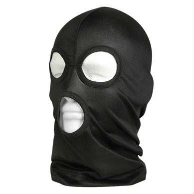 フルフェイスマスクです目と口用に穴が3つあいており、首と顔を完全にカバー Rothco フェイスマスク ブラック 5563 目出し帽 | ロスコ フリースマスク 防寒マスク 防寒用防寒対策 防寒グッズ バラクラバ 目だし帽 目出帽 バラクラヴァ Balaclava