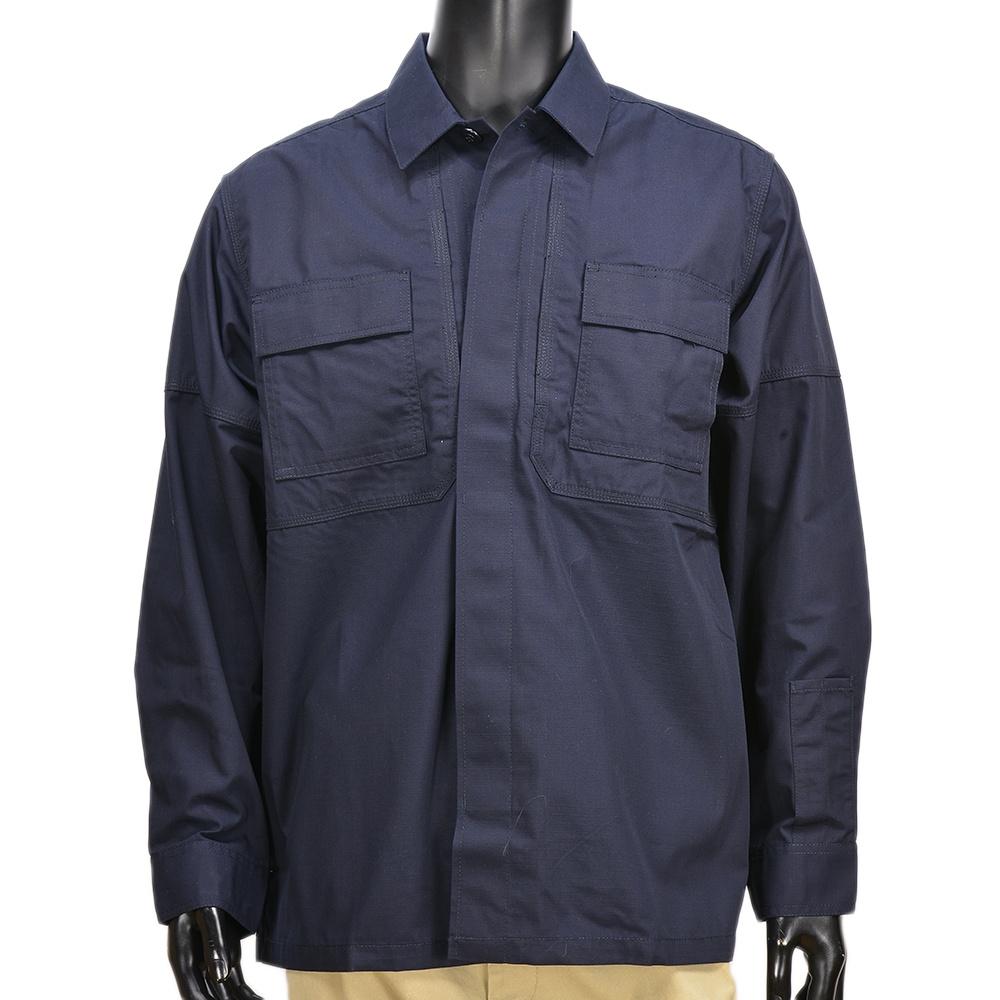 5.11タクティカル TDUシャツ 長袖 リップストップ 72002 [ ダークネイビー / Mサイズ ] 511 5.11Tactical ミリタリーシャツ 長袖シャツ ロングTシャツ アーミーシャツ アサルトシャツ
