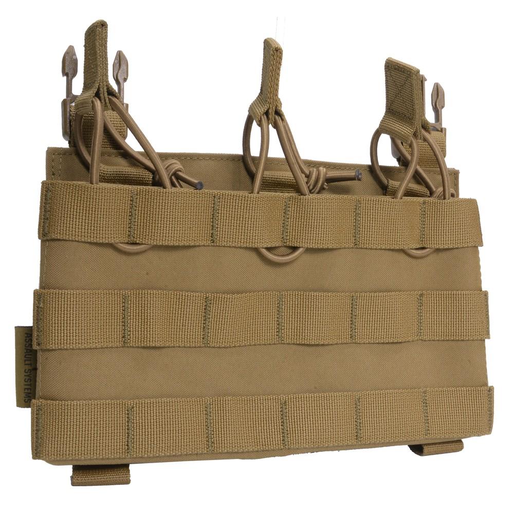 WARRIOR ASSAULT SYSTEMS 実物 トリプルマグポーチ パネル オープン RPC用 [ コヨーテタン ] ウォーリアーアサルトシステムズ WAS リーコンプレートキャリア W-EO-RPC-TMOP リムーバブル MOLLE オープンポーチ 3連マガジンポーチ M4 AK 5.56mm 7.62mm サバゲー