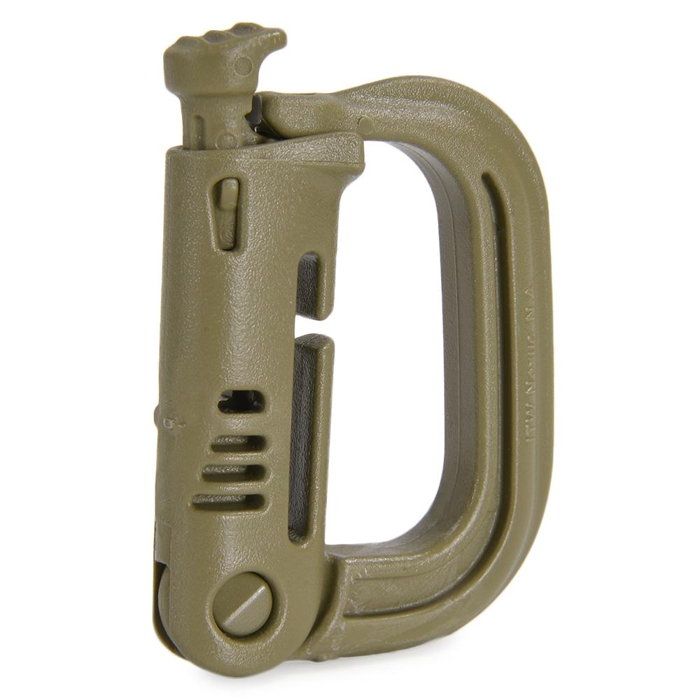 ITW Nexus製の多用途Dリング Grimloc Locking D-Ring 4個セット Nexus ランキングTOP5 グリムロック タン Dリング サバゲー装備 モールシステム ミリタリーグッズ モーリー 激安 サバイバルゲーム MOLLEアダプター パルス MOLLE対応 PALS