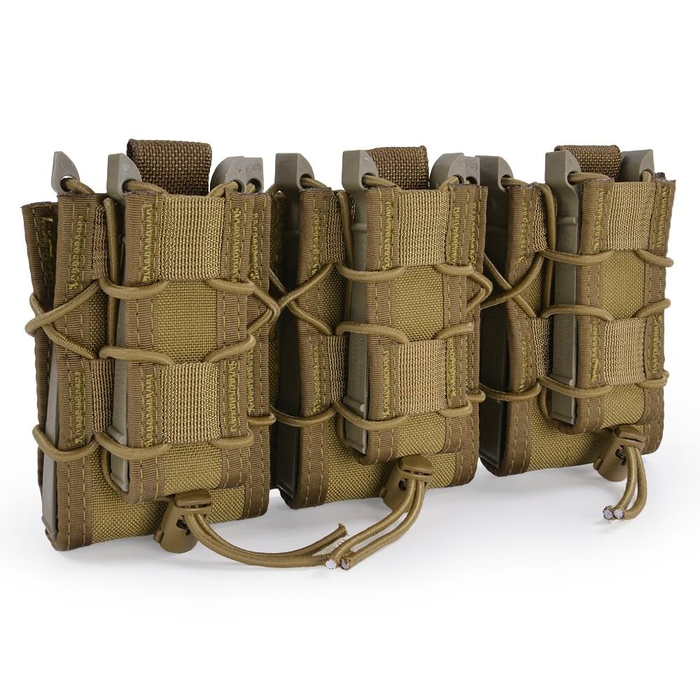 ハイスピードギア TACOマグ 実物 ダブルデッカー マガジンポーチ シングルシリーズ 45DD00 [ コヨーテブラウン ] シングルピストル ピストルポーチ 弾倉