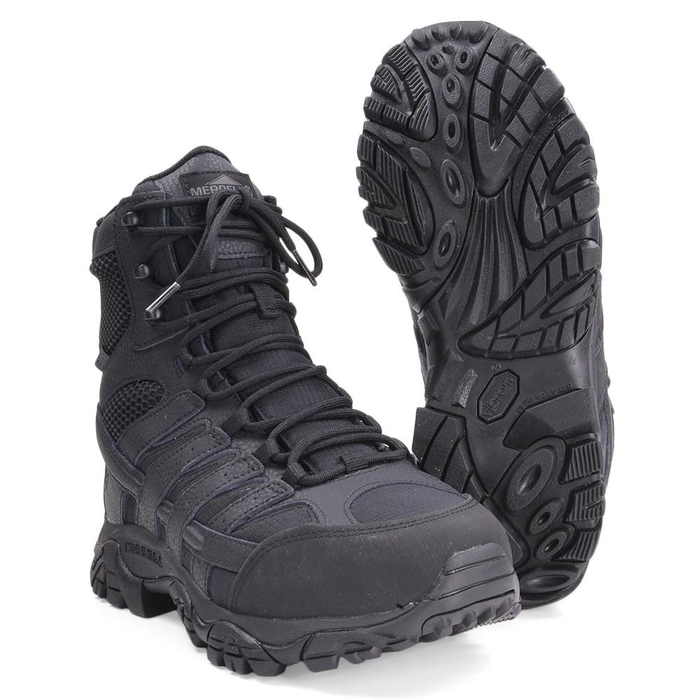 MERRELL メンズ MOAB2 タクティカルブーツ ウォータープルーフ ハイカット [ ブラック / 9W(約27.0cm) ] メレル Tactical Boot MEN High Cut waterproof Vibram ビブラム M-Select DRY KINETIC FIT ASTM F2413-11 吸湿発散性 防水性 軽量 クッション性 ワイド