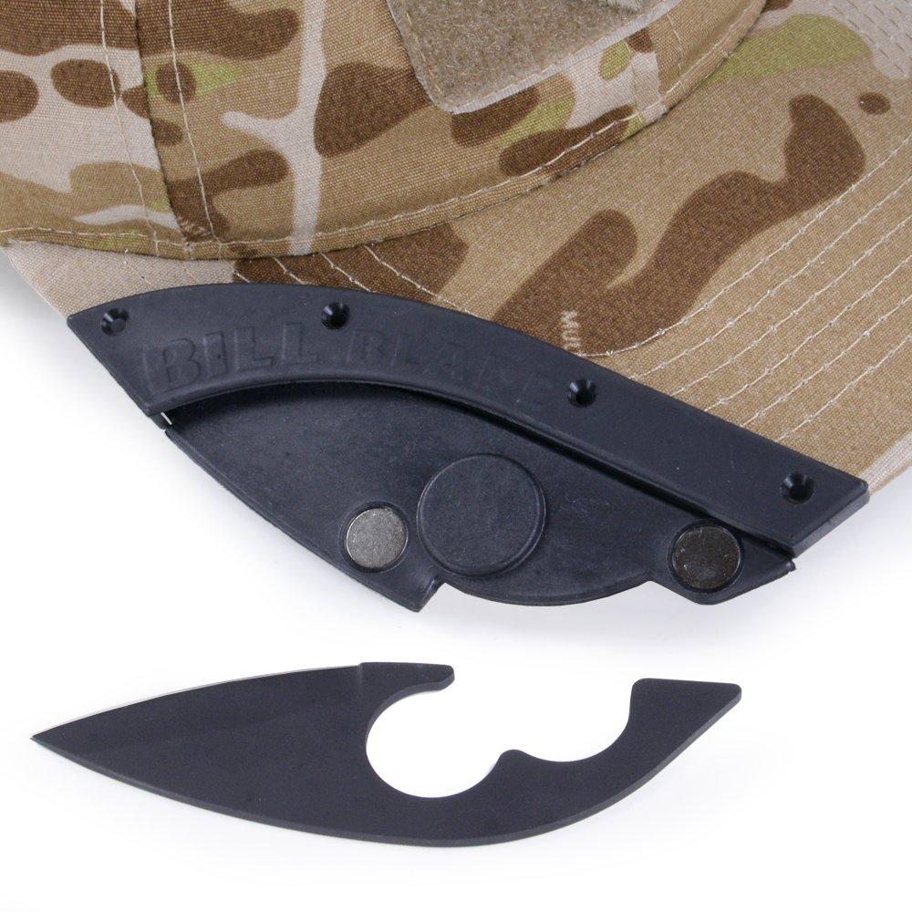 キャップ取付用 ナイフシースキット  BILL BLADE [ ブラック ] ナイフセルフインストールキット ベースボールキャップ用 野球帽用 アウトドアキャップ用