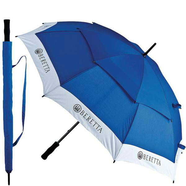 銃器メーカーで有名なベレッタのコンペティション アンブレラ 雨傘2重構造で強風等にも強く 広げると約130cmと大型の傘です Beretta 雨傘 130cm メーカー公式 超目玉 コンペティション 長傘 雨具 カサ かさ