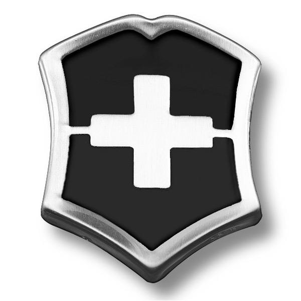 ビクトリノックスのロゴをあしらった小型ピンバッチ VICTORINOX ピンバッジ 4.1888 スイスクロス ブラック エンブレム ピンズ ミリタリーバッジ ストアー 記章 Victorinox 業界No.1 ミリタリーバッチ