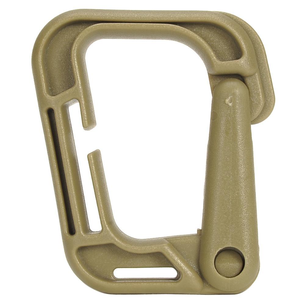 カラビナ D型 プラスチック製 [ タン ] 樹脂製 カラビナ環 D型カラビナ プラスチックカラビナ アウトドア用品 キャンプ用品