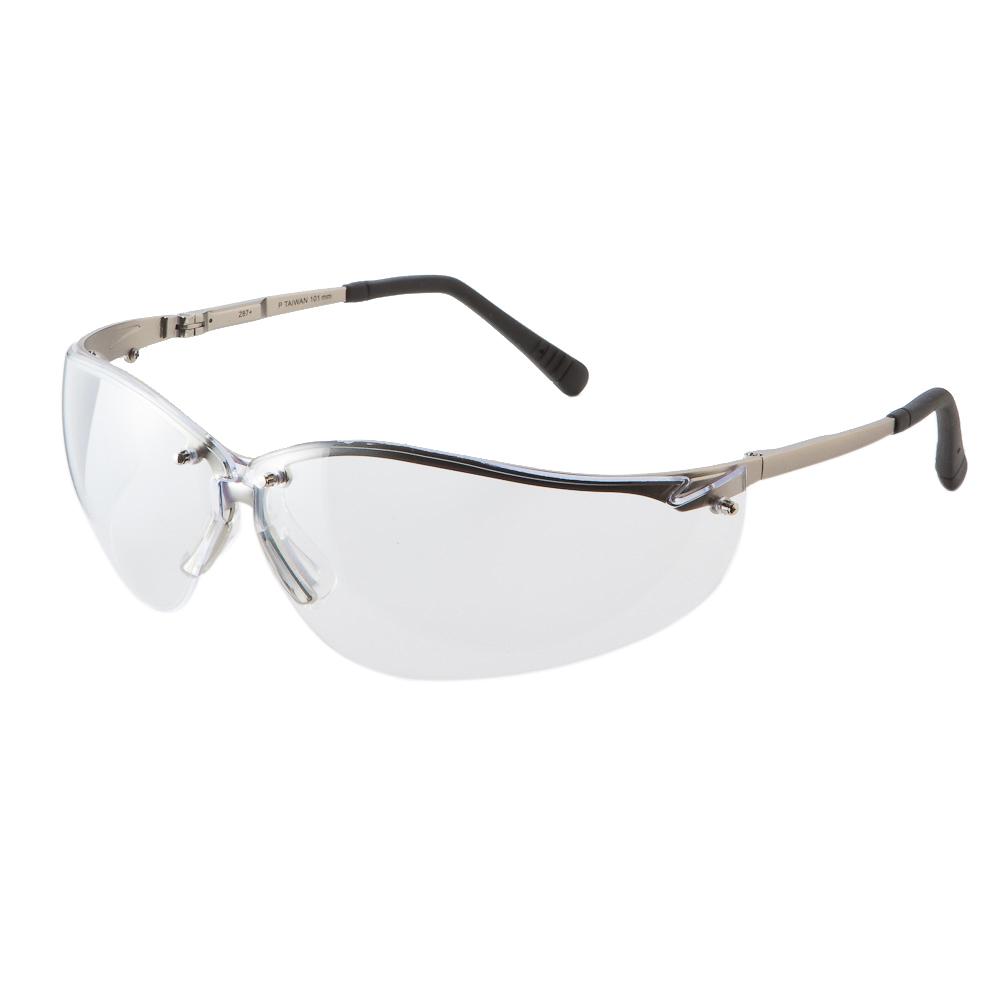 紫外線99.9%カットと優れた紫外線対策能力をもつサングラス Pyramex セーフティーグラス V2メタル クリア セーフティグラス メンズ アイウェア 紫外線カット 保護眼鏡 保護メガネ 透明 UVカット 保護めがね 2020 安全メガネ 曇り止め サングラス 安心と信頼 作業用メガネ
