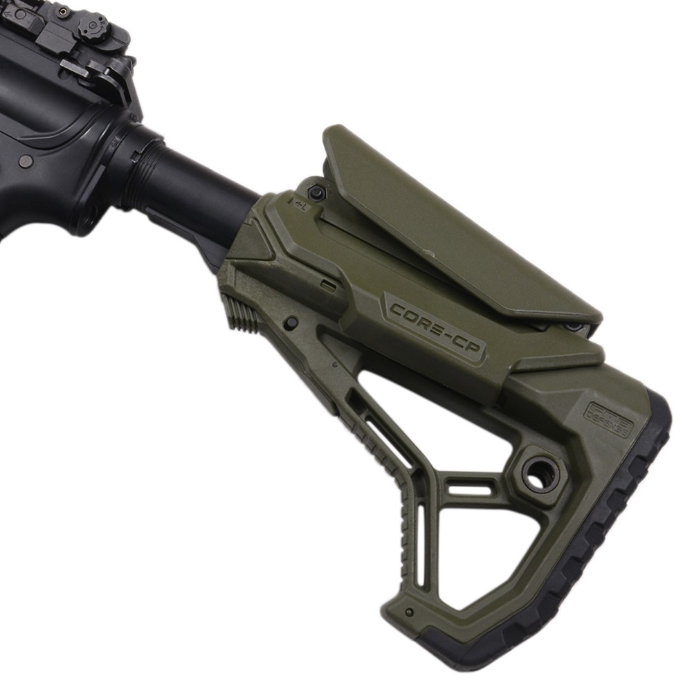 FABディフェンス 実物 GL-CORE CP ストック AR15 M4対応 チークレスト付き [ オリーブドラブ ] DEFENSE チューブアダプター付き バットストック ライフルストック 装備品