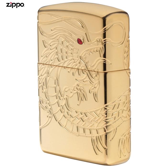 ZIPPO ドラゴン #29265 ゴールドメッキ Armor ジッポー オイルライター