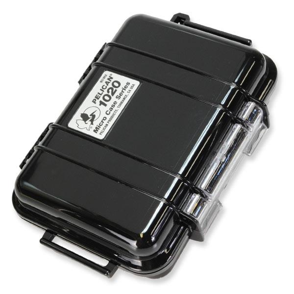 ポリカーボネートを使用した耐衝撃ボディは防水シール機能を備え 水やホコリからケース内のアイテムを保護します PELICAN マイクロケース 1020 ブラック ソリッドブラック 防水ケース プラスチックケース 保護ケース 携帯電話 デジカメケース 防水ボックス ダイビング プラスチックボックス アウトレット 出色