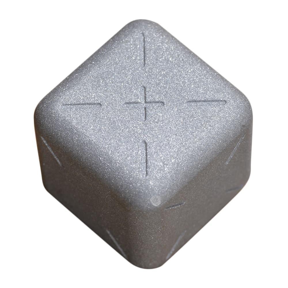 チタン製サイコロ 角丸立方体 梨地仕上げ ダイス 正六面体 さいころ dice チタニウム ゲーム