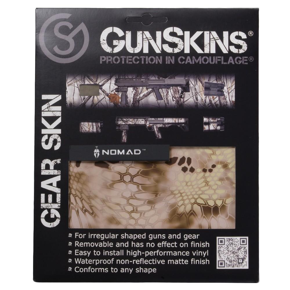 GunSkins 20×125cm シングルシート 保護フィルム ギアスキン [ ノマド ] ガンスキンズ 保護ラップ ラッピングシート シール テープ 迷彩テープ Gear