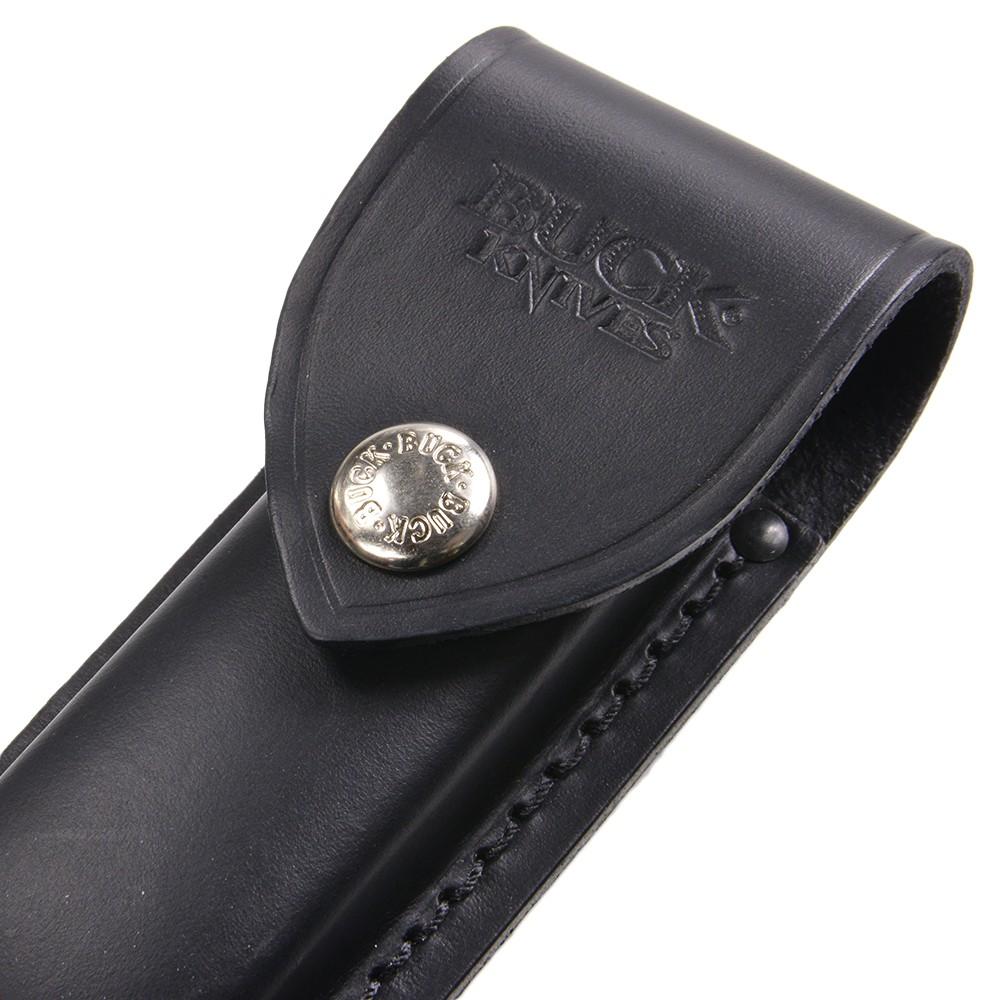 BUCK ナイフシース 革製 500 デューク用 バック Duke レザー ナイフケース ナイフ入れ 収納ポーチ ロゴ ベルトループ