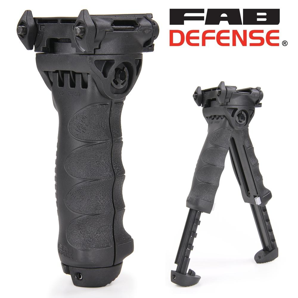 FABディフェンス 実物 T-POD G2 PR フォアグリップ&バイポッド [ ブラック ] FAB-Defense ファブディフェンス バーティカルグリップ トイガンパーツ サバゲー用品