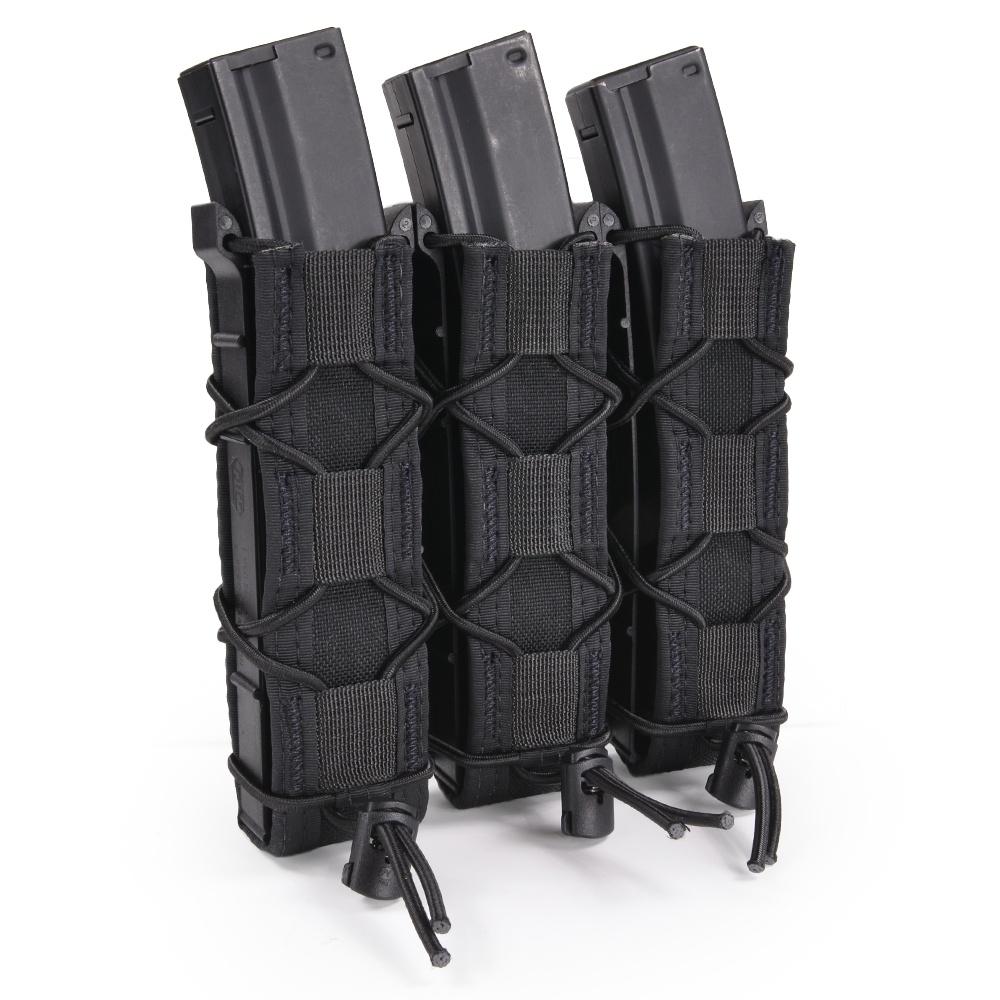 ハイスピードギア TACOマグ 実物 エクステンデッド ピストルマグ 3連 45EX00 [ ブラック ] シングルピストル マガジンポーチ ピストルポーチ 弾倉