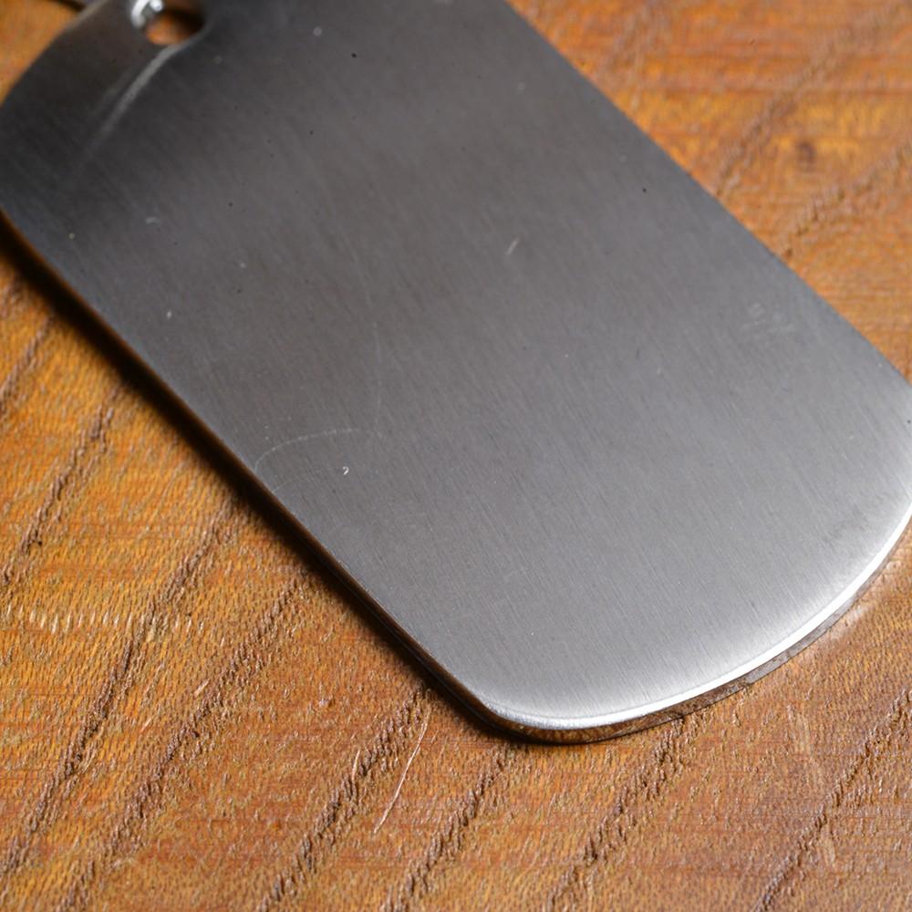 ステンレス製 ドッグタグプレート 5×2.7cm カラー  [ シルバー / ツヤなし ] ドックタグ 認識票 DOG TAG ペンダントトップ つやあり 艶あり つやなし メンズアクセサリー