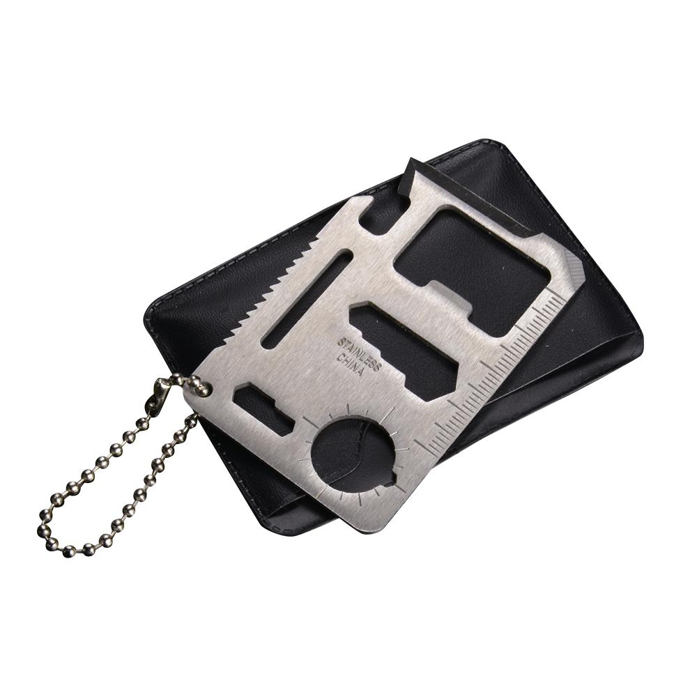 多くの機能を備えたマルチツール財布の中に納まるクレジットカードサイズです マルチツール カード型 ステンレス シルバー 人気 おすすめ クレジットカードサイズ ツールナイフ JP013 海外 サバイバルツール カードツールナイフ ユーティリティナイフ アーミーナイフ キャンピングナイフ ナイフカード 十得ナイフ 十徳ナイフ カードナイフ 万能ナイフ