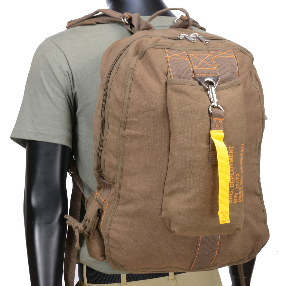 01e5d1ad53fe6a Repmart: Rothko flight bag vintage canvas Messenger bag backpack daypack  9763 Brown ROTHCO backpack knapsack bag bag bag military military  collectibles ...