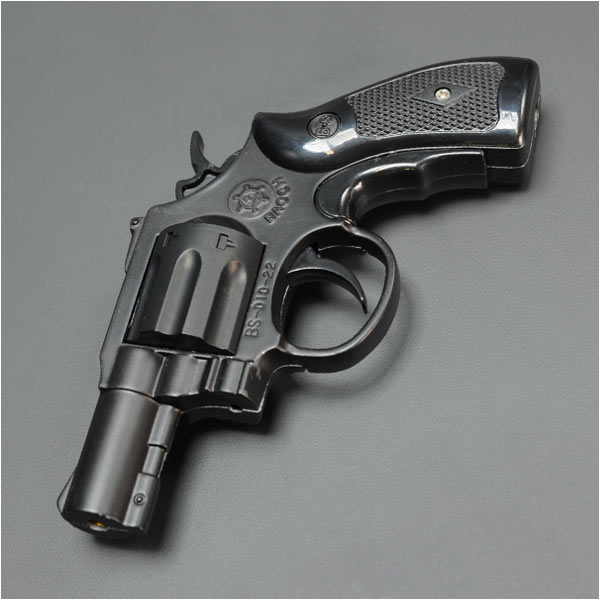 Turbo lighter revolver minipistol [Black] smoking equipment ( Zippo pipe  ashtray ) 0011951-0001 gas lighter pistol hand gun GLOCK toys hobby