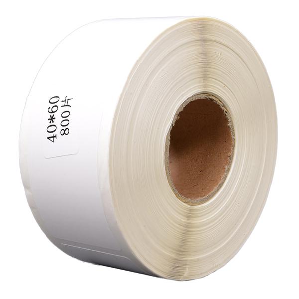 40×60mmサイズの感熱式ラベルロール紙 ブラザー TD-2130N TD-2130NSA用のラベルロール紙です プレカット紙ラベル 40×60mm 800枚 NSA用 RD-U06J1互換 35%OFF 10巻セット サーマルラベルロール プリンター 熱感熱ラベル紙 シール バーコード ラベルロール紙 休日 ラベルシート 感熱ラベル 熱感熱紙ラベル 熱感熱ロール紙 サーマルロールラベル紙 サーマルラベル紙