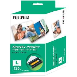 FUJIFILM FinePix Printer 전용 잉크 카트리지・페이퍼 세트 L사이즈 120장 F-ICP120L