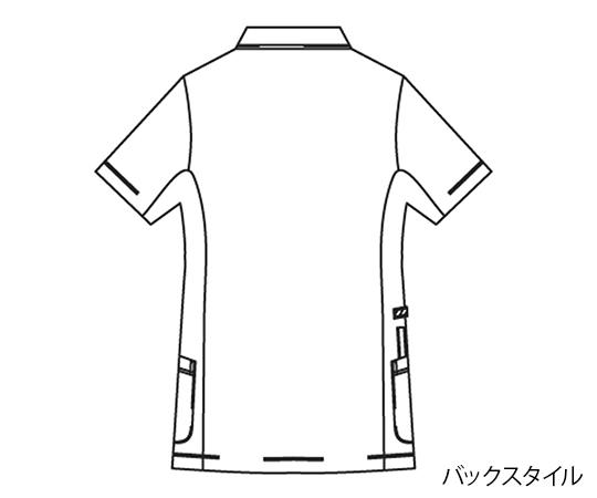 動体裁断シリーズ レディスジャケット 半袖ホワイト×ネイビー LL45622130750543FcTlJK1
