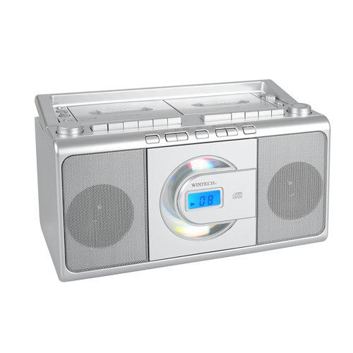 【送料無料】WINTECH ウインテック CDダブルラジカセ CDR-W70