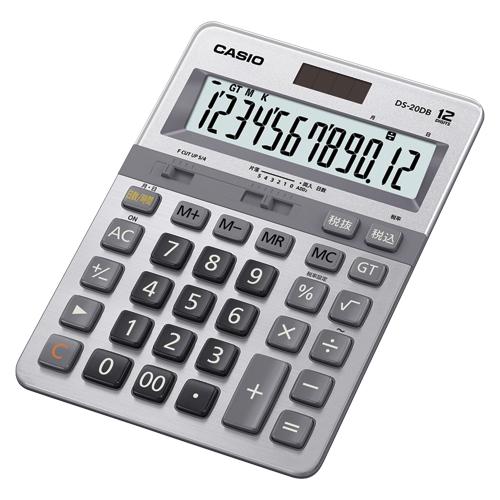 カシオ 本格実務電卓日数&時間計算タイプ12桁 DS-20DB-N【4971850033790】