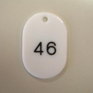 オフィス用品 文具 クラウン 2020 新作 CR-BG41-W 番号札番号入〔大1-50〕白 返品交換不可 4953349082151