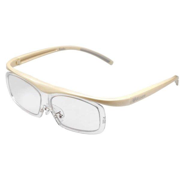 ケンコー・トキナー メガネ型 拡大鏡 ユイルーペ YUIルーペ ラージサイズ 1.6倍+1.89倍セット KTL-5108L アイボリー