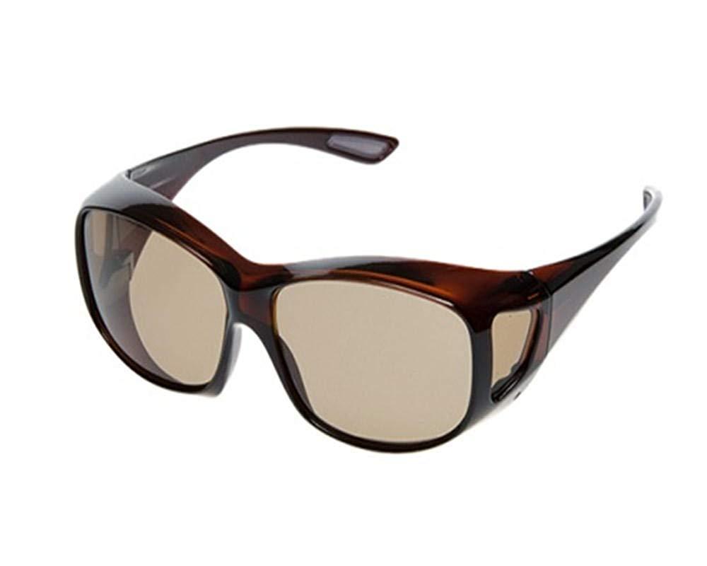 サイモン 偏光調光オーバーグラス ポラフィットアイ ブラウン SiMON PA-2B メガネの上からも掛けられる偏光・調光機能付きサングラス
