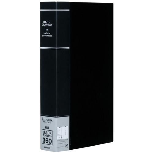 驚きの価格が実現 想い出のL判360枚を大容量収納 ナカバヤシ ポケットアルバム フォトグラフィリア PHL-1036-D L判3段360枚収納 100%品質保証 ブラック