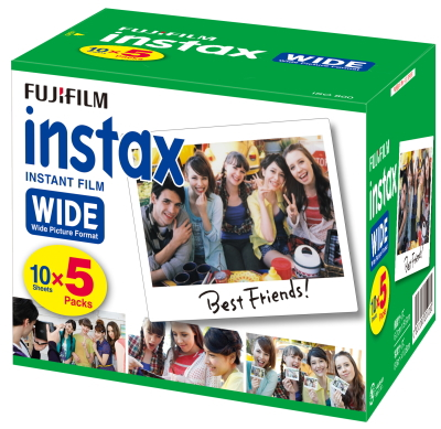 FUJIFILM インスタントカメラ instax ワイド用フィルム インスタックスワイドフィルム 300枚 (5本パック×6個)