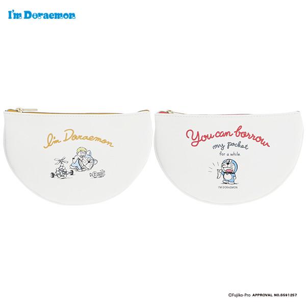 I'm Doraemon ポケットポーチ ドラえもん グッズ 大人 フラワーリング キャラクター ケーブルポーチ お揃い キャラクターポーチ ドラえもんポケット プレゼント 小さめ 国内在庫 ドラえもんポーチ 化粧ポーチ 小物入れ 数量限定 ポーチ かわいい プレゼントドラえもん