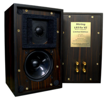 Stirling Broadcast 스털링 브로드캐스트 BBC 모니터 스피커 LS3/5 a V2 [Ebony Tiger Stripe Limited Edition]페어 신품