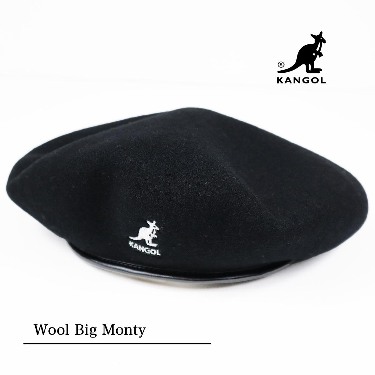 KANGOL カンゴール 日本限定デザインウールベレー帽 ビッグ Big 出色 Monty198-169503 Wool 再入荷/予約販売! モンティSMU
