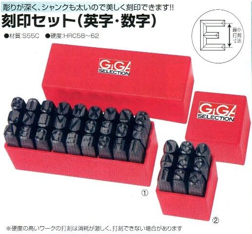 手打刻印英字セット12.0mm GSKA-120
