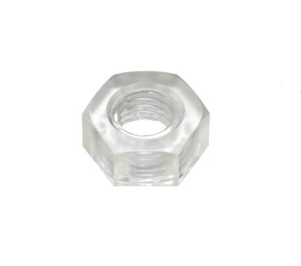 メーカー:日本ケミカルスクリュー製耐衝撃性 至高 透明性を有するポリカーボネート製の六角ナットです ポリカ 六角ナット ポリカーボネイト プラスチックナット クリア 透明 SALE開催中 小箱500個入り M6