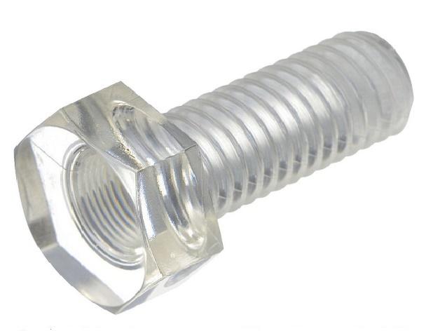 メーカー:日本ケミカルスクリュー製耐衝撃性 透明性を有するポリカーボネート製の六角ボルトです 休日 ポリカ 六角ボルト ポリカーボネイト プラスチックねじ 透明 クリア 好評 小箱250個入り M5x30
