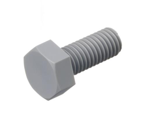メーカー:日本ケミカルスクリュー製耐酸性 耐アルカリ性 耐水性に優れるPVC製の六角ボルト 塩ビ六角ボルト 小箱100個入り 公式 M5X12 ☆正規品新品未使用品 ポり塩化ビニル六角ボルト PVC